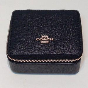 NWT COACH Crossgrain Leather Travel Jewelry Box